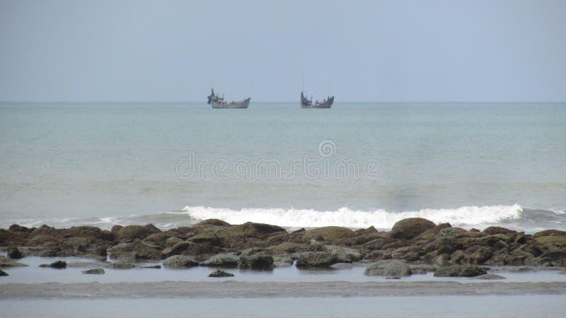 Spiaggia Bangladesh del mare di Cox's Bazar immagine stock libera da diritti