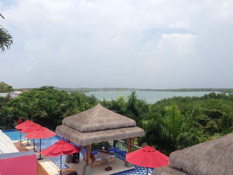 Spiaggia in baru Cartagine Colombia fotografia stock libera da diritti