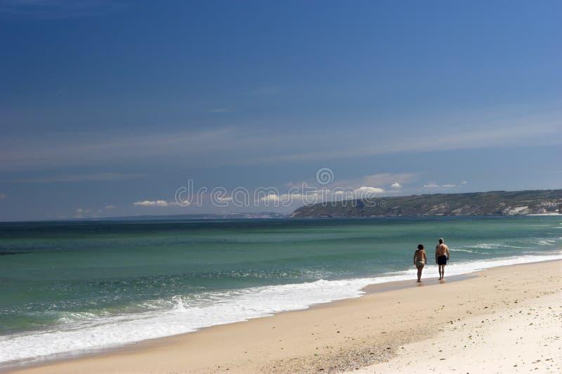 Spiaggia bianca della sabbia fotografie stock libere da diritti