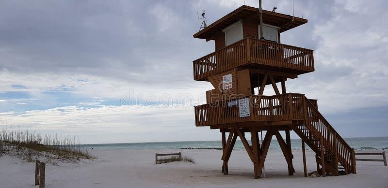 Spiaggia Bradenton Florida sunshine state di Coquina immagini stock