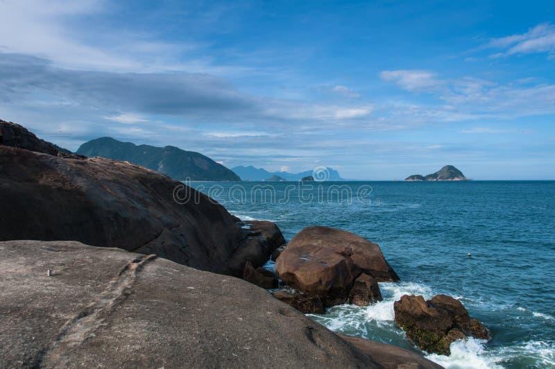 Spiaggia brasiliana tropicale fotografia stock