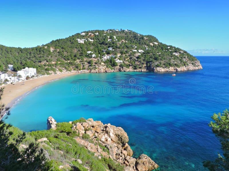 Spiaggia Cala San Vicente fotografia stock