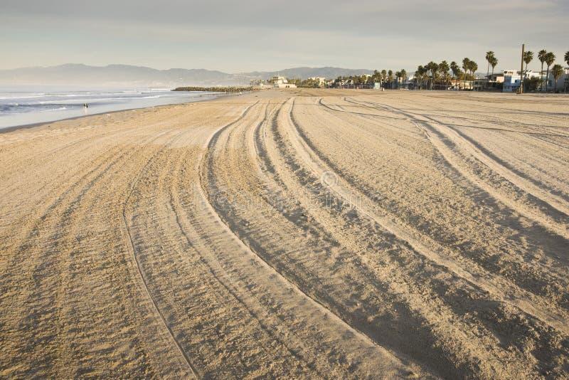 Spiaggia California di Venezia immagini stock libere da diritti