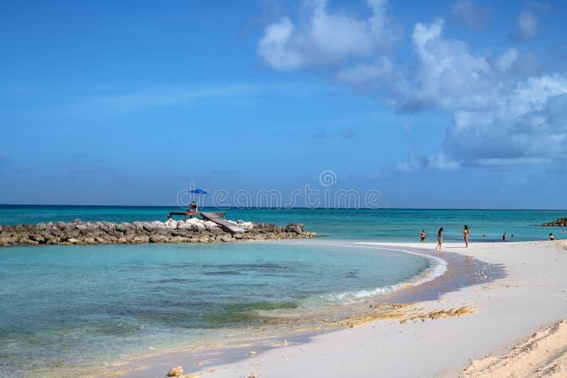 Spiaggia calma di Bahama fotografia stock libera da diritti