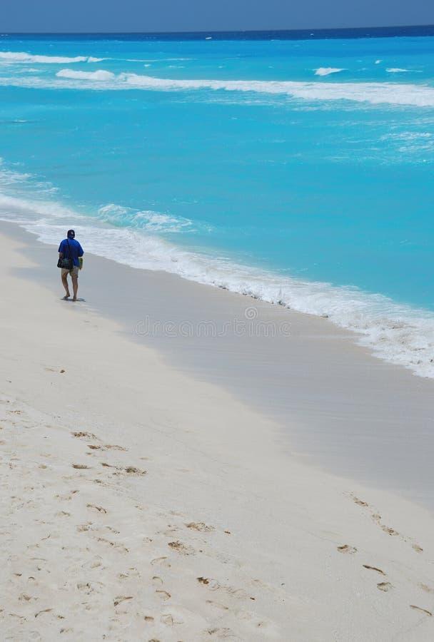 Spiaggia in cancun Messico fotografia stock libera da diritti