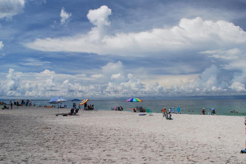 Spiaggia chiave di siesta a Sarasota Florida fotografie stock