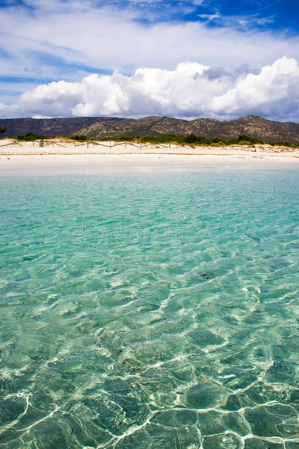 Spiaggia Cinta, Sardegna fotos de stock