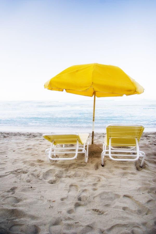 Spiaggia classica fotografie stock