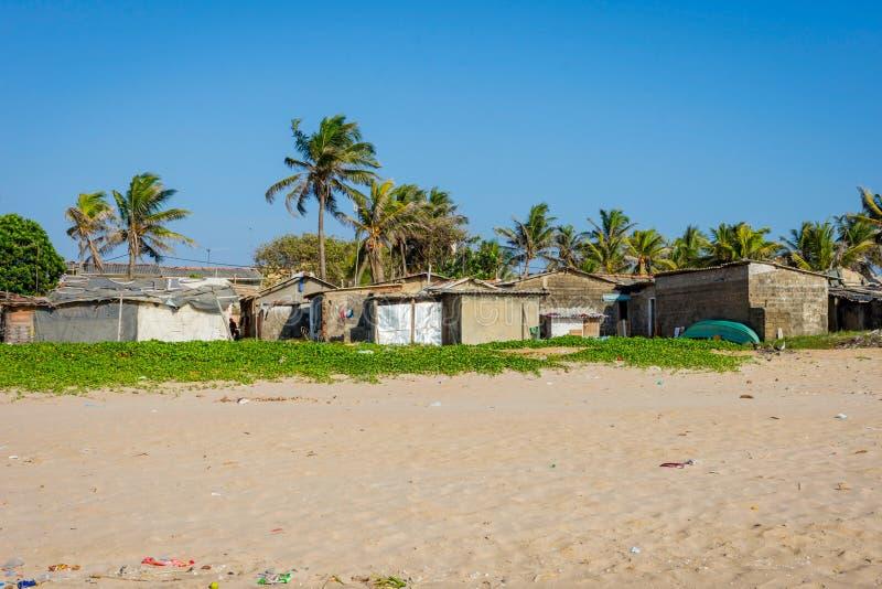 Spiaggia a Colombo, Sri Lanka fotografie stock