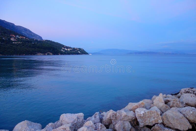 Spiaggia Corfù di Ipsos fotografia stock