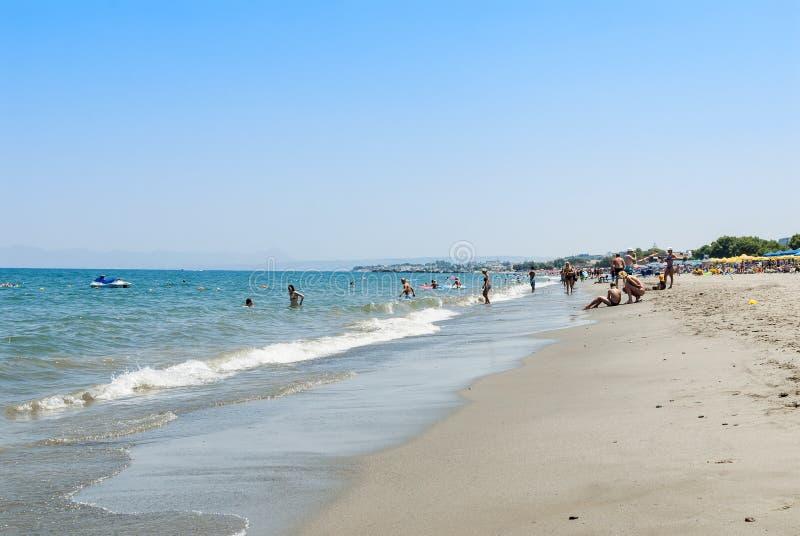 Spiaggia Creta di Platanias fotografia stock libera da diritti