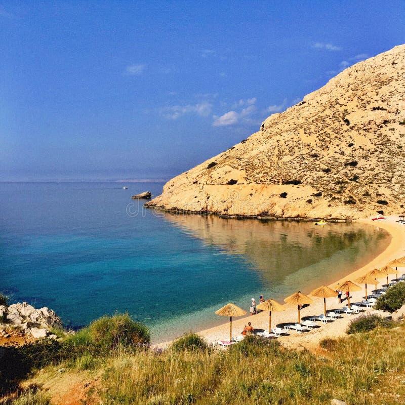 Spiaggia croata fotografia stock libera da diritti
