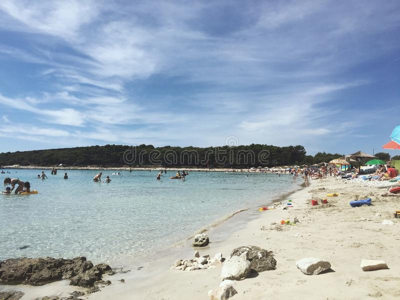 Spiaggia Croazia di Sakarun immagini stock libere da diritti