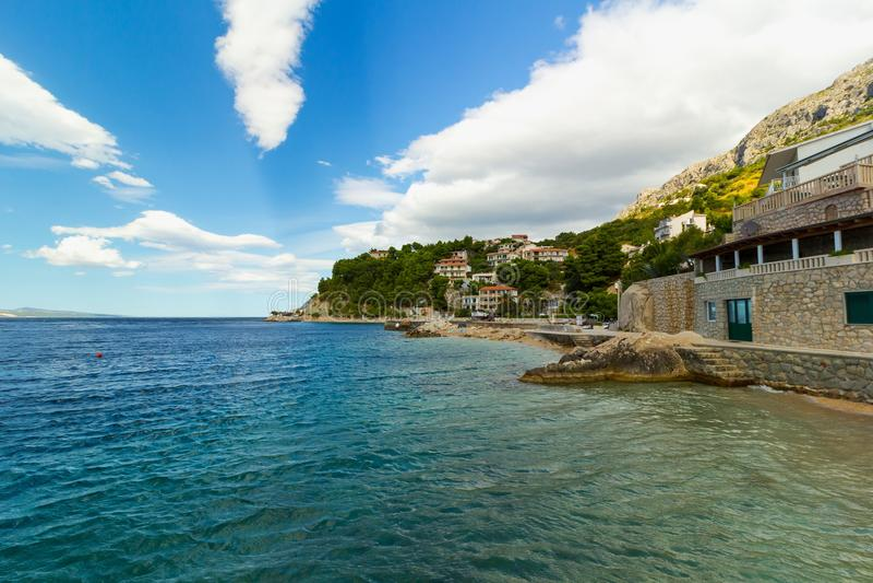 Spiaggia In Croazia, Località Di Soggiorno Di Brela Stomarica ...