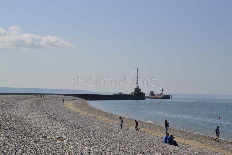 Spiaggia dalle Havre Francia fotografie stock