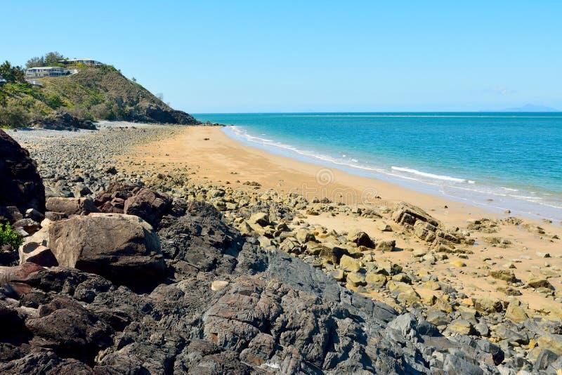 Spiaggia dei nero in Mackay, Australia fotografie stock