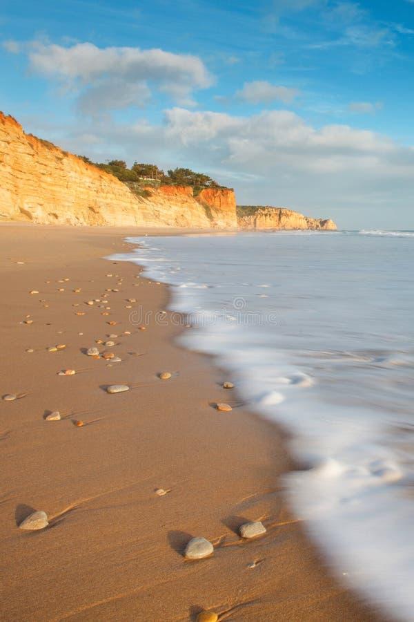 Spiaggia del ³ s di Oporto de MÃ fotografie stock libere da diritti