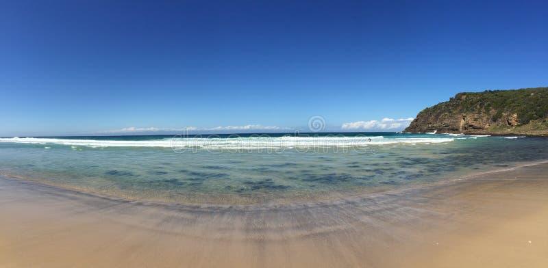 Spiaggia del boomerang fotografie stock