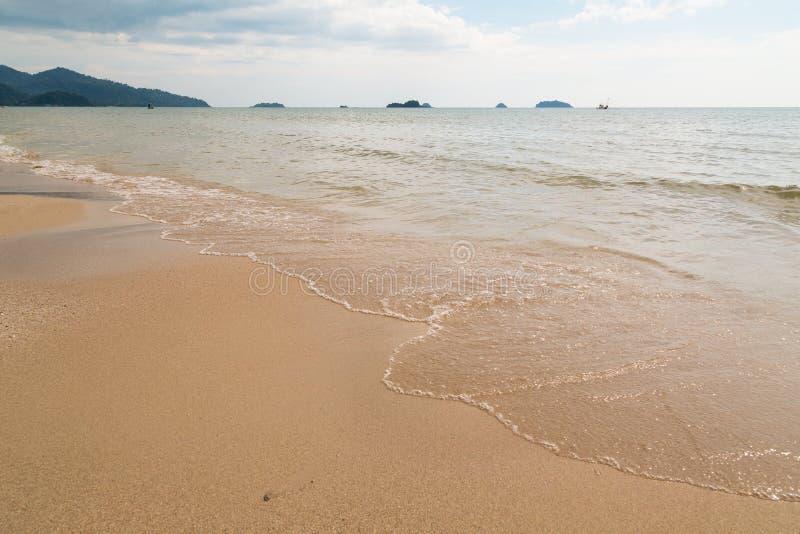 Spiaggia del cielo della sabbia fotografie stock libere da diritti