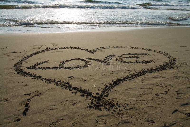 Spiaggia Del Cuore Fotografie Stock