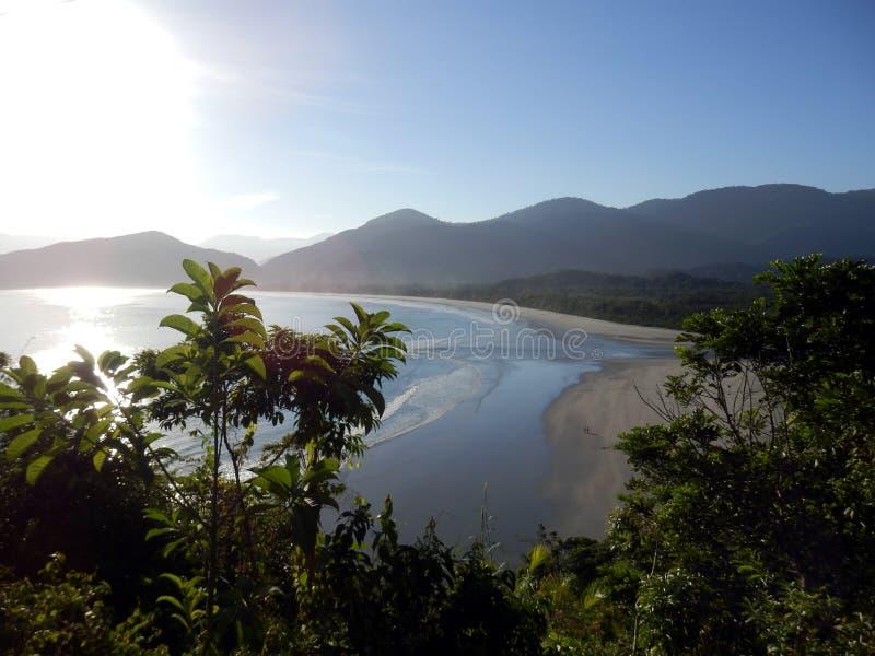 Spiaggia del Da Fazenda nello stato di Sao Paulo fotografia stock