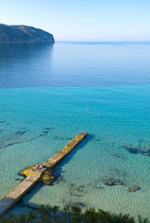 Spiaggia del de marzo dell'accampamento, Mallorca fotografie stock libere da diritti