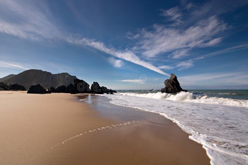 Spiaggia del deserto fotografie stock libere da diritti