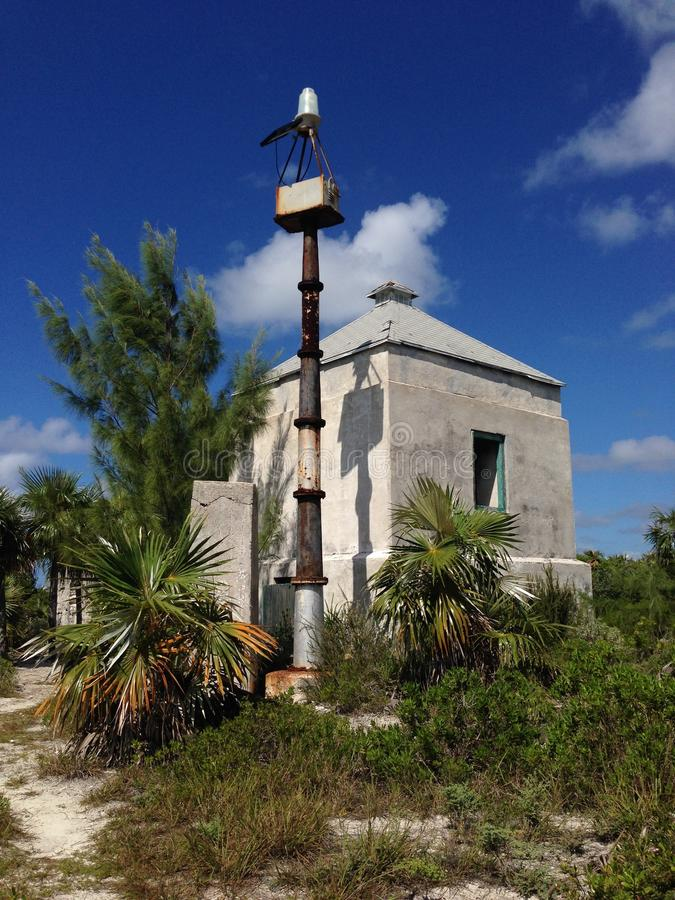 Spiaggia del faro, Eleuthera, Bahamas fotografia stock libera da diritti