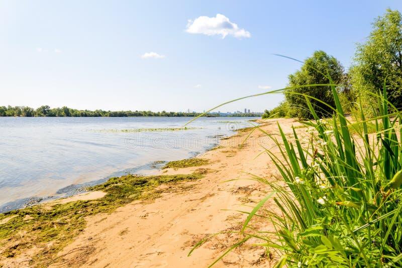 Download Spiaggia Del Fiume Di Dnieper Fotografia Stock - Immagine di sunny, nube: 56889828
