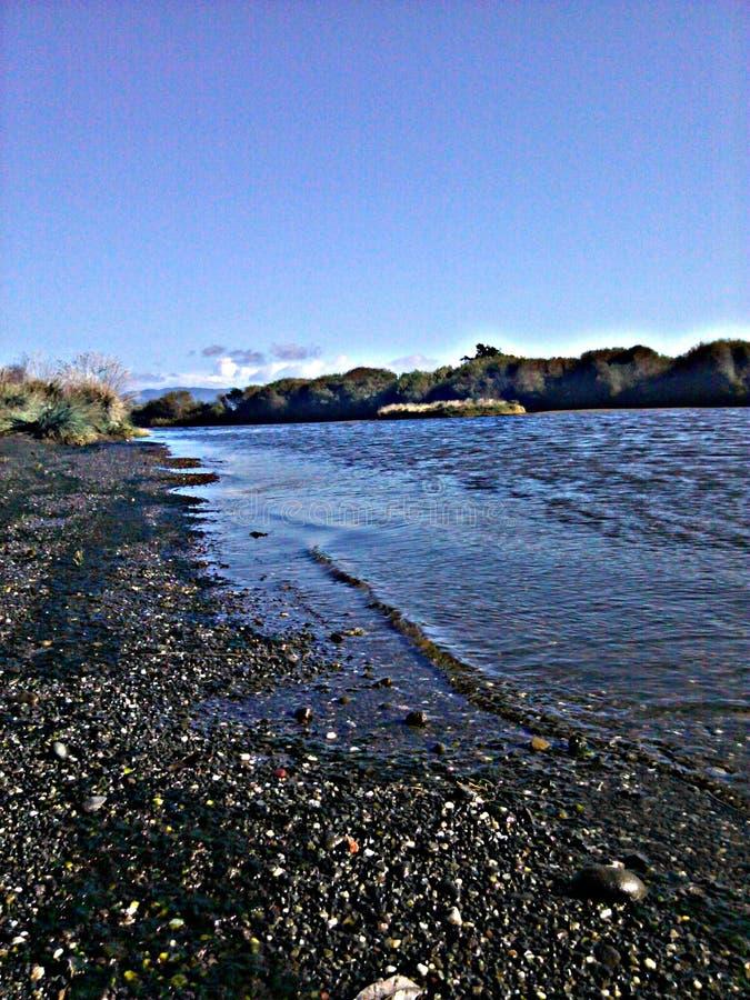 Spiaggia del fiume Mad fotografie stock