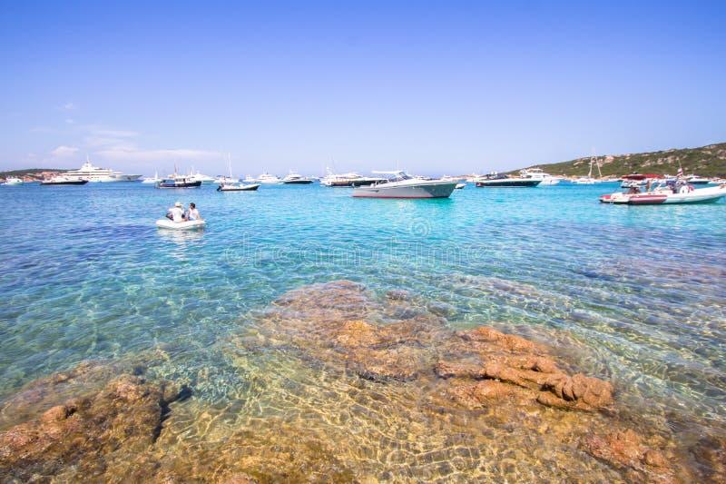 Spiaggia del Grande Pevero, Sardegna, Italia fotografie stock