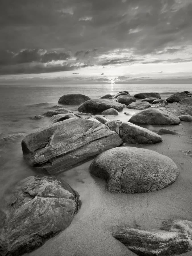 Spiaggia del Mar Baltico immagini stock libere da diritti