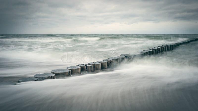 Spiaggia del Mar Baltico nel wernemunde vicino a Rostock immagini stock libere da diritti