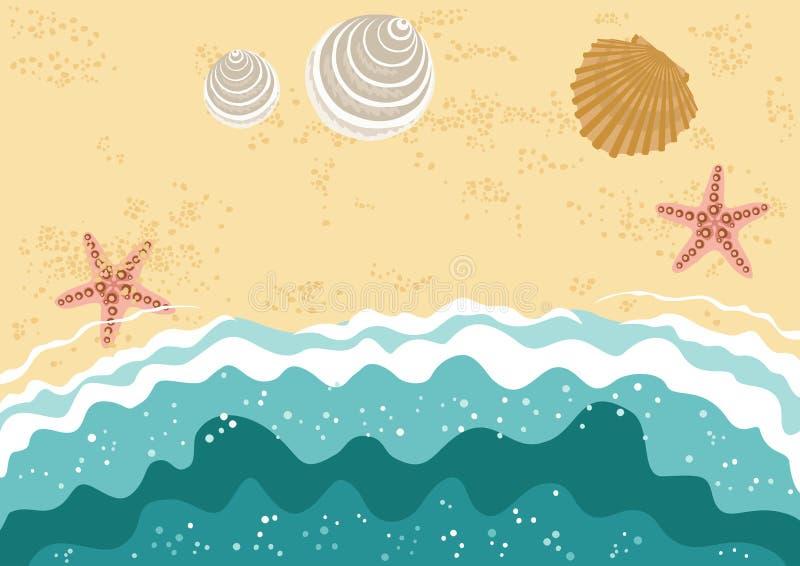Spiaggia del mare illustrazione di stock