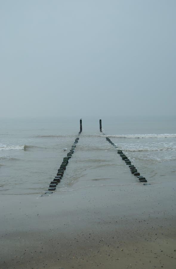 Spiaggia del Mare del Nord i Paesi Bassi fotografia stock