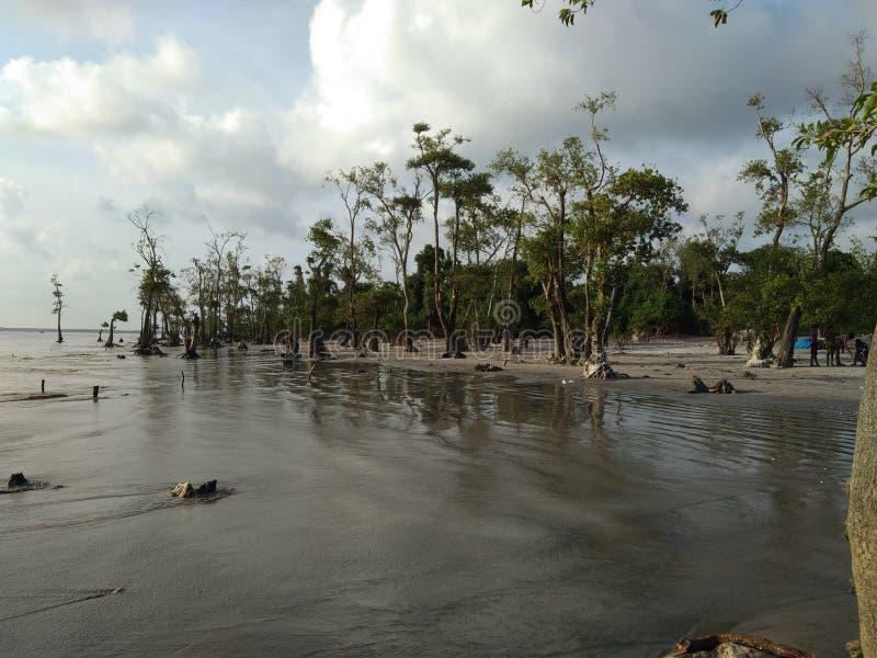 Spiaggia del mare di Kuakata immagine stock libera da diritti