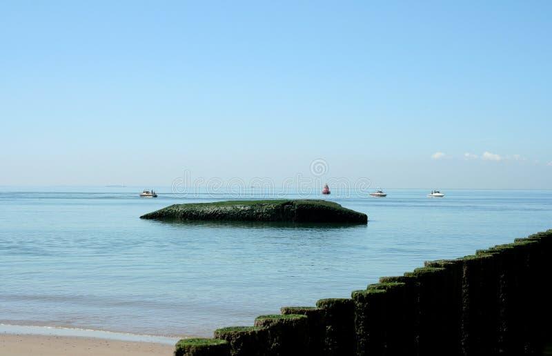 Spiaggia del Mare del Nord e durata della spiaggia di Westkapelle immagine stock