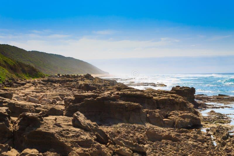 Spiaggia del parco della zona umida di Isimangaliso, Sudafrica fotografia stock libera da diritti