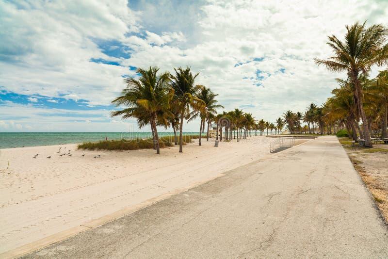 Spiaggia del parco di Crandon fotografie stock libere da diritti