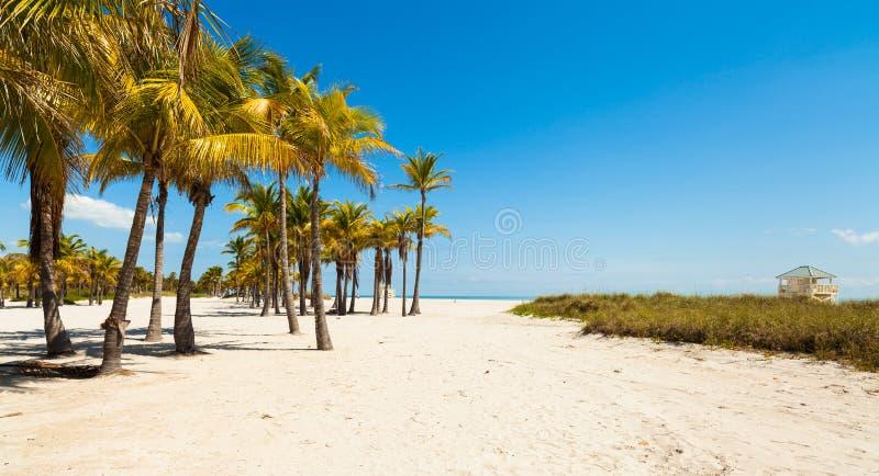 Spiaggia del parco di Crandon immagine stock libera da diritti