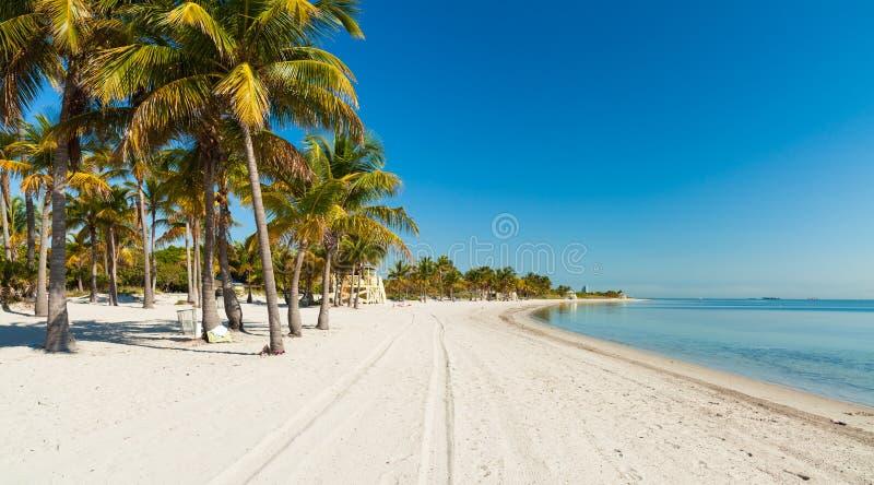 Spiaggia del parco di Crandon immagini stock libere da diritti