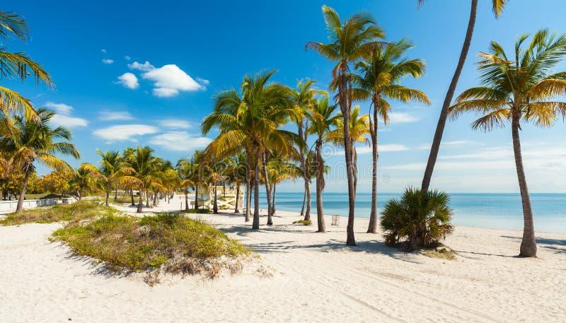 Spiaggia del parco di Crandon fotografie stock