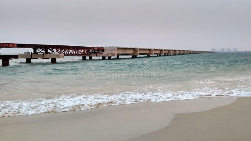 Spiaggia del porto fotografia stock
