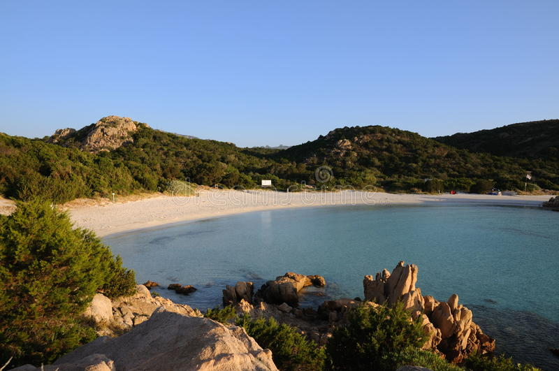 Spiaggia del Principe stock fotografie