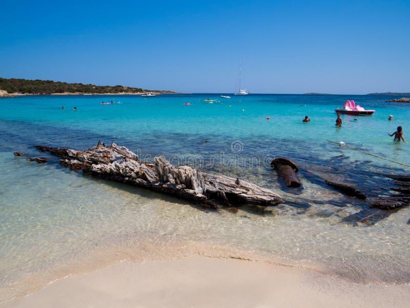 Spiaggia Del Relitto, wyspa Caprera zdjęcie royalty free