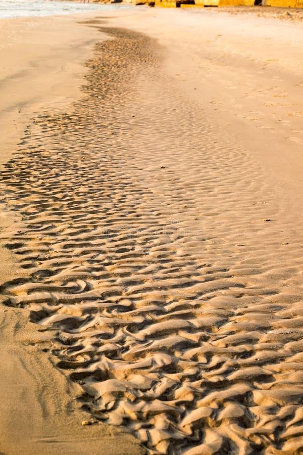 Spiaggia del solco della curva naturale immagine stock