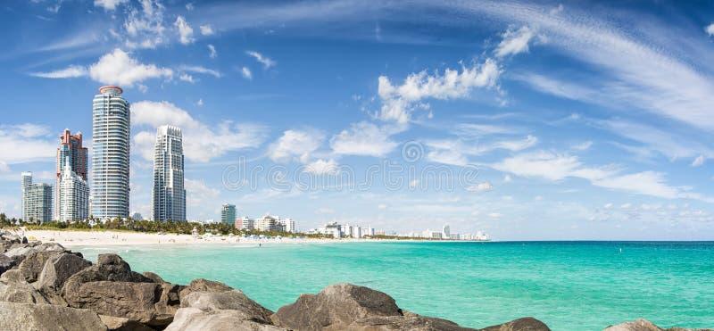 Spiaggia del sud di Miami, Florida, U.S.A. immagine stock