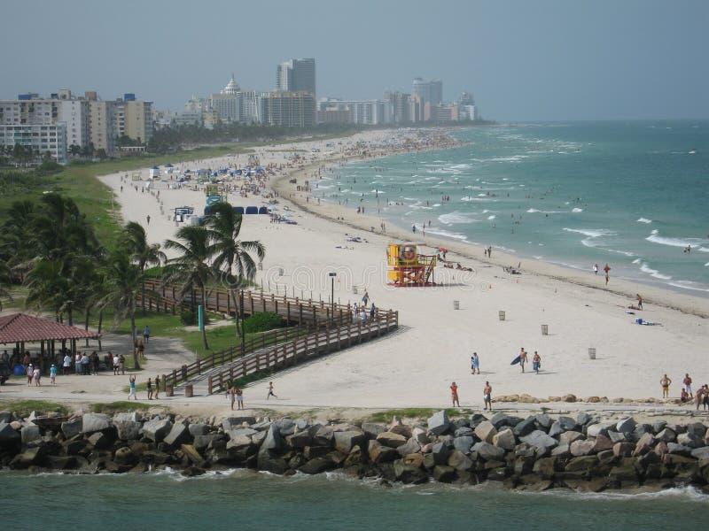 Spiaggia del sud Miami immagine stock libera da diritti