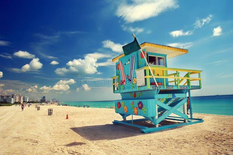 Spiaggia del sud, Miami immagini stock