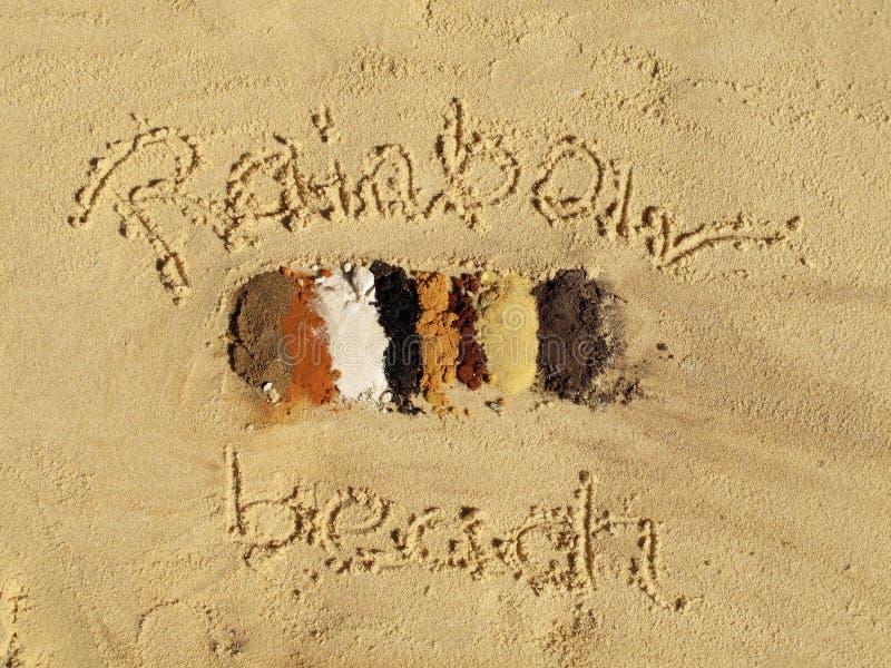 Spiaggia dell'arcobaleno, Queensland, Australia fotografia stock